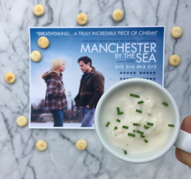 Fun Food Ideas for an Academy Awards Party in front of the TV - Classic New England Clam Chowder for Manchester by the Sea - www.jacolynmurphy.com
