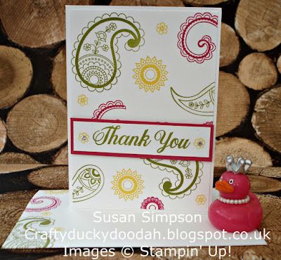 Stampin' Up! UK Independent  Demonstrator Susan Simpson, Craftyduckydoodah!, Paisleys & Posies, May 2017 Coffee & Cards Project, Supplies available 24/7,