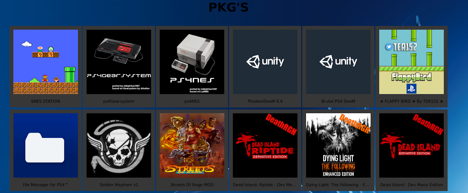 PS4 PKG Homebrew Package Store | PS4 games mods tools
