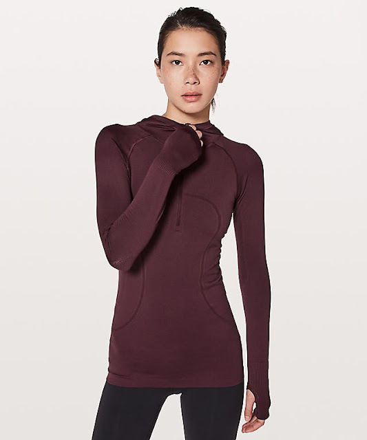 lululemon hooded-swiftly-zipper redwood
