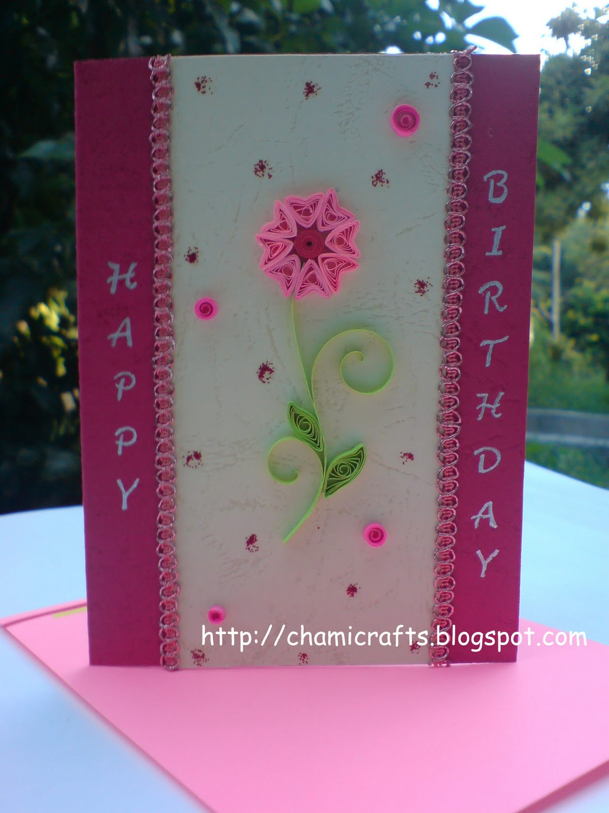 chami crafts  handmade greeting cards another birthday