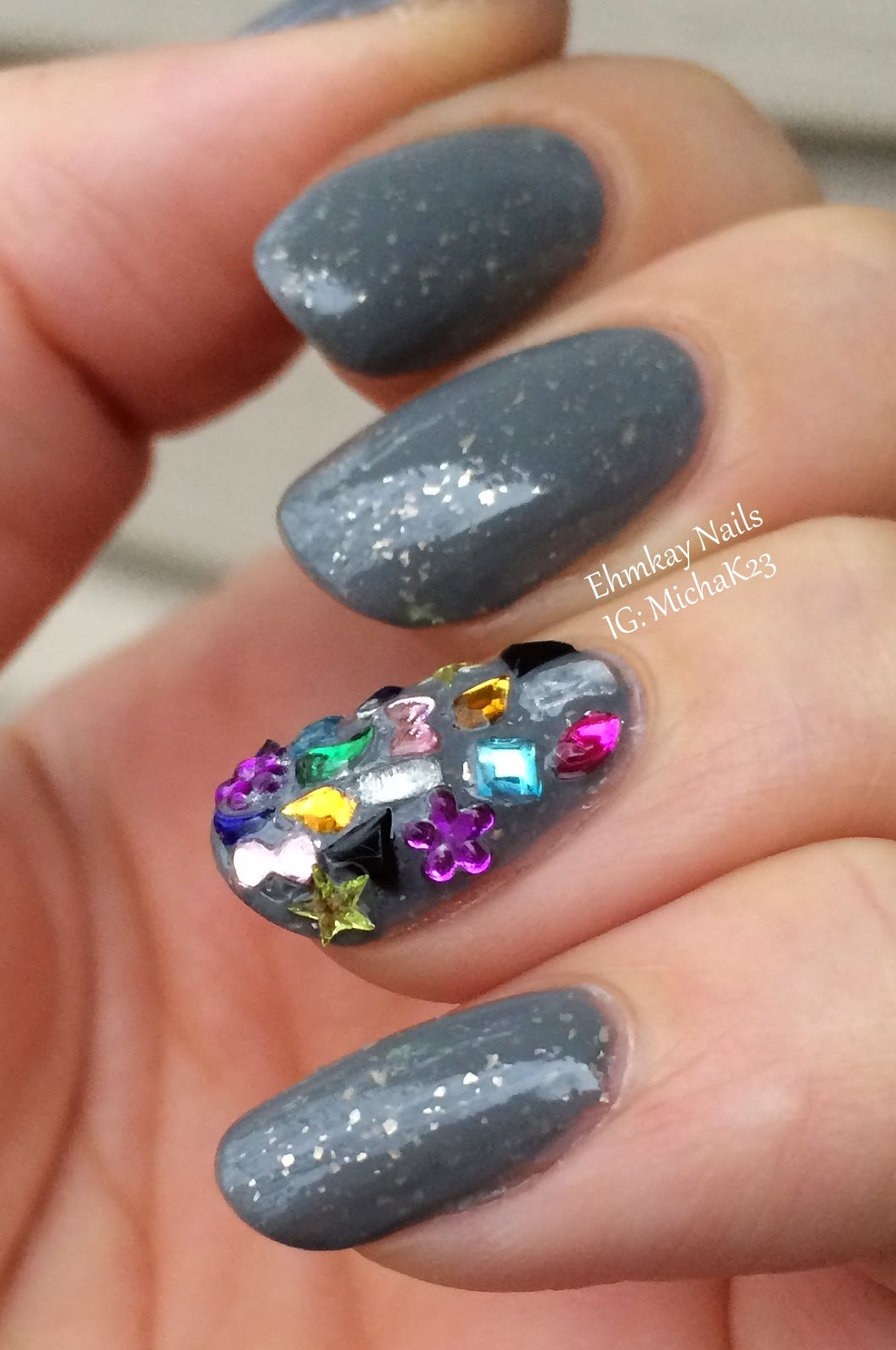 Ehmkay Nails: Playing With Born Pretty Nail Art Studs