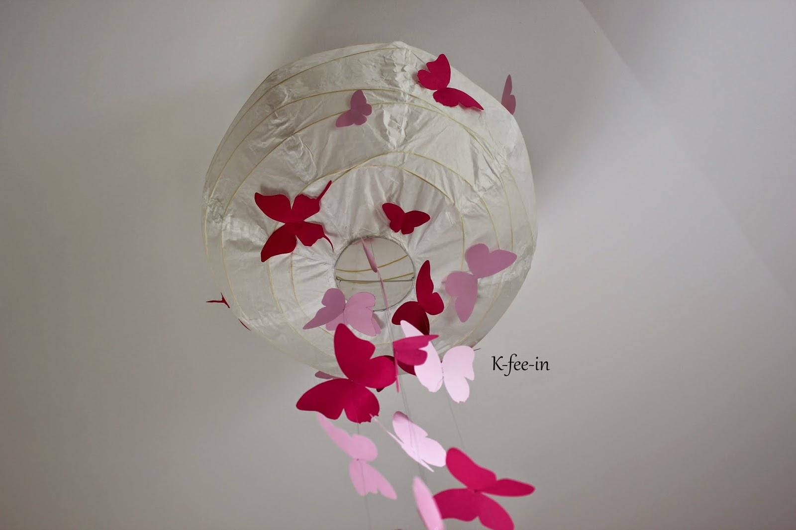 diy le lustre papillon mini bonheur. Black Bedroom Furniture Sets. Home Design Ideas