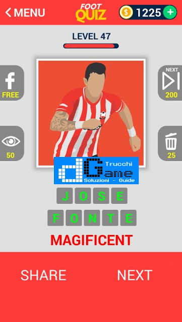 FootQuiz Calcio Quiz Football ( ATTO) soluzione livello 41-50