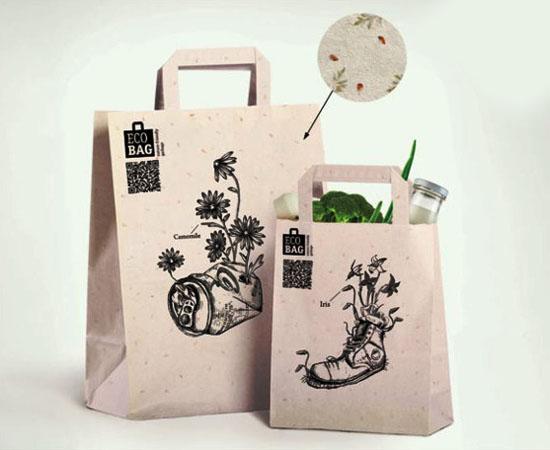 In túi giấy giá rẻ tại Hà Nội, túi giấy kraft cao cấp mẫu mã đẹp Eco Bag