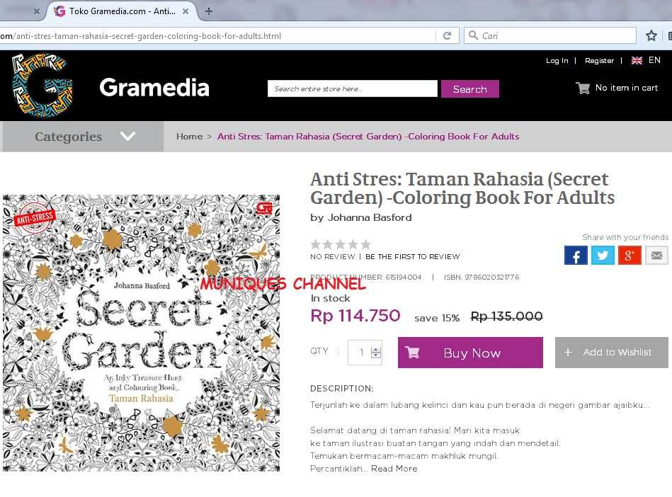 83 Secret Garden Coloring Book Di Gramedia