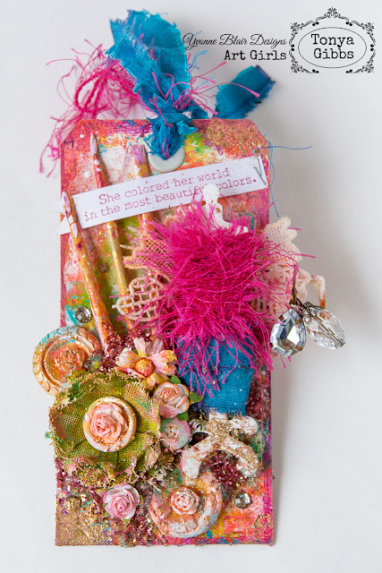 Beautiful Colors Mixed Media Tag by Tonya A. Gibbs for Yvonne Blair Designs