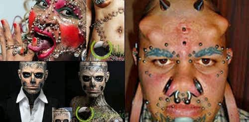 7 Penampilan Manusia yang paling Menyeramkan dan Aneh di Dunia