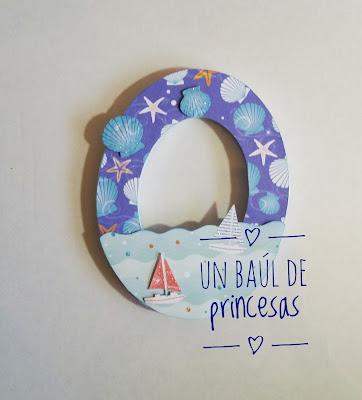 Letra decorada O de Noan