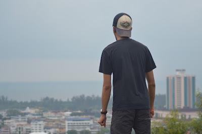 Pemandangan dari atas Canada Hill, Miri, Sarawak