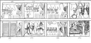 شرح مُبسَّط لبعض مناظِر السقف الخاص بغُرفة دفن مقبرة سِننِجِم بدير المدينة