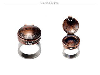 Diseño de anillo con monedas de centavo