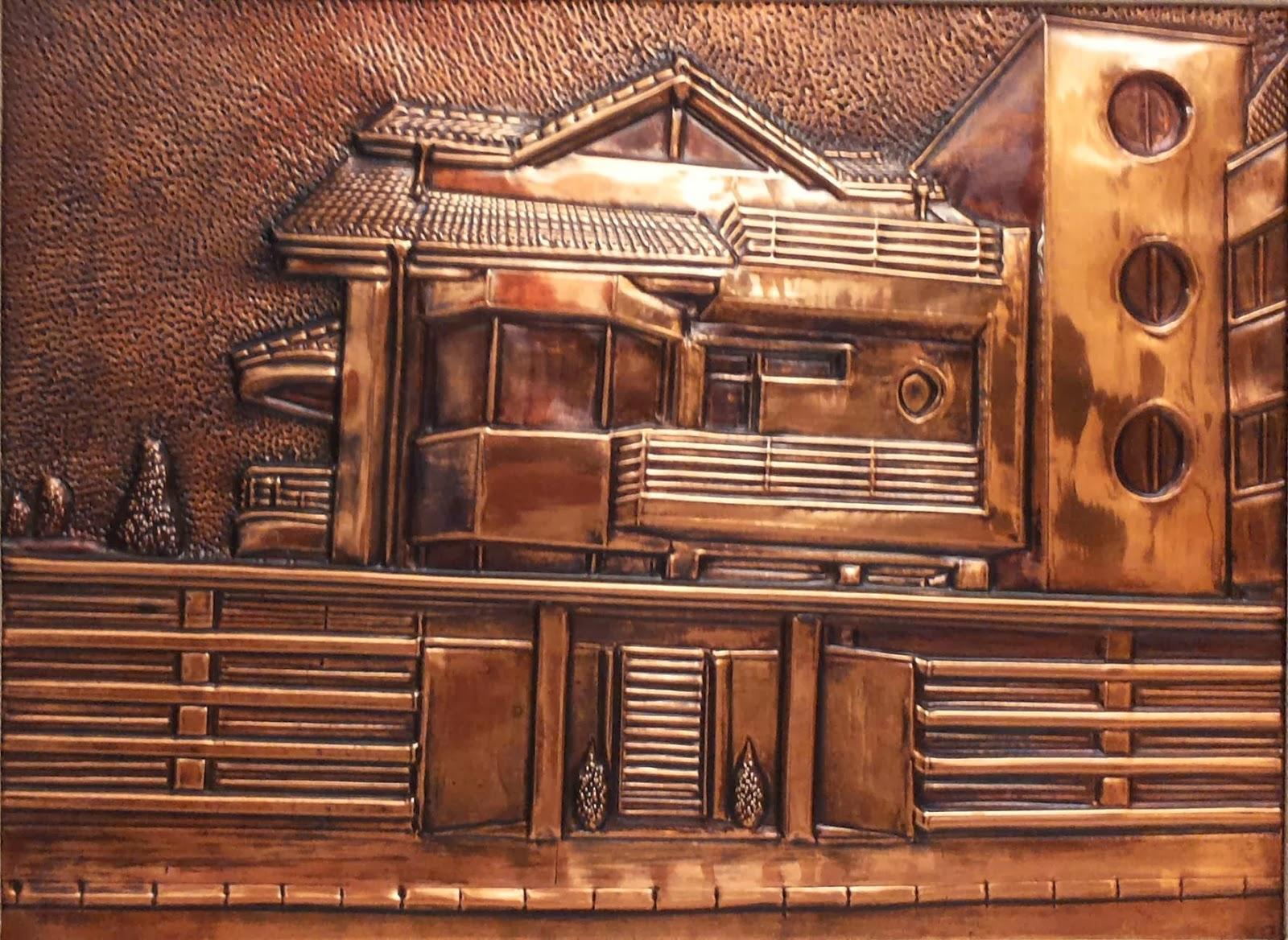 metalloplasie, metaloplastia, metaloplastie, modelarea tablei, métalloplastique, tablouri pe tabla de cupru, tablou, arta plastice, lucru manual,