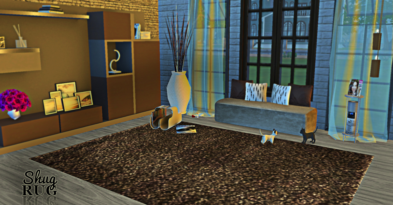 Living room shug rug rimshard shop sims 4 cc for Living room 4x3