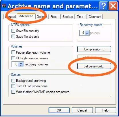 Cara membuat password RAR / ZIP