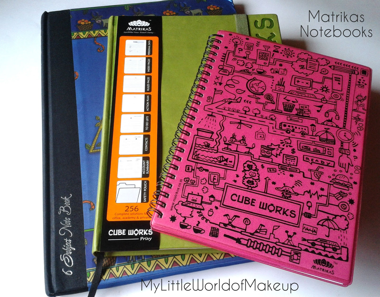 my little world of make up martrikas notebooks review the notebooks came at my doorstep so neatly and securely packaged in a box each notebook is sealed a clean film in order to avoid any scratches which