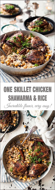One Skillet Chicken Shawarma & Rice