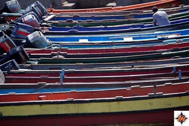 Isola di Pasqua, barche ormeggiate presso Caleta Hanga Roa