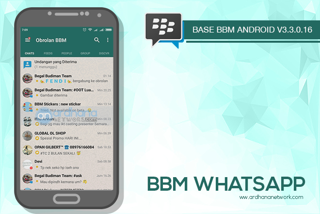 BBM Whatsapp V3.3.0.16 - BBM MOD Android V3.3.0.16