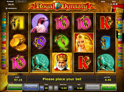 play royal dynasty video slot from Novomatic
