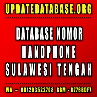 Jual Database Nomor Handphone Sulawesi Tengah