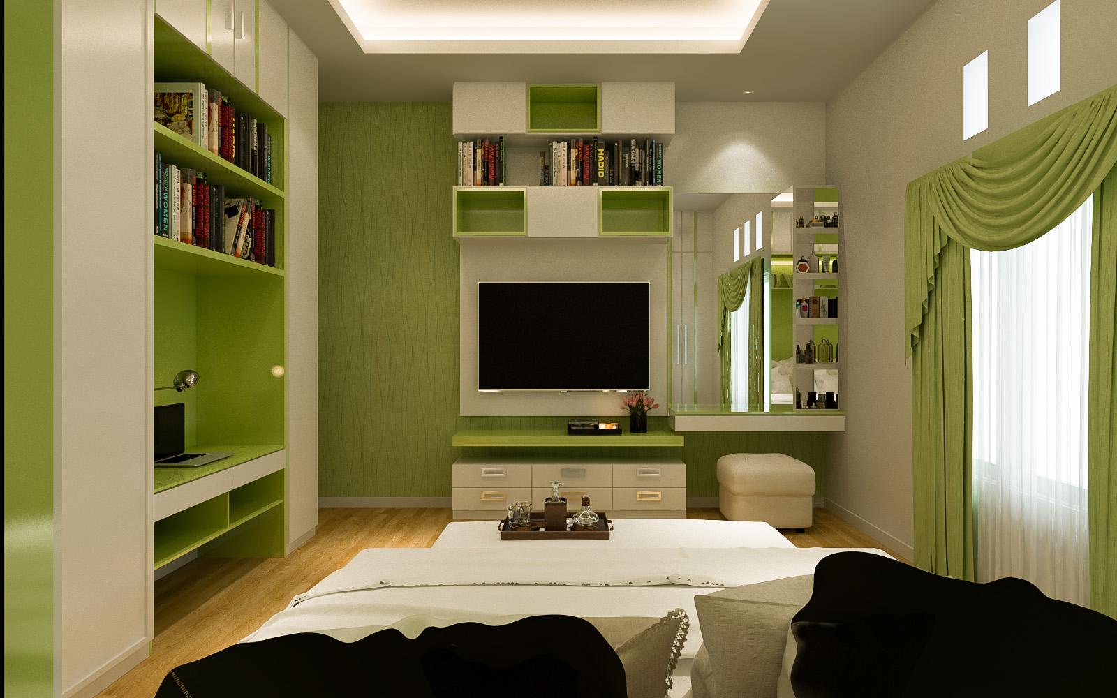 desain interior kamar tidur utama milik pak samsul, makassar   jasa