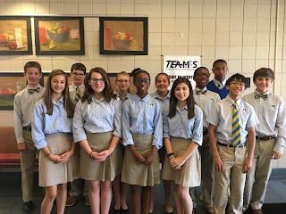 Montgomery Catholic Elects Middle School SGA 1