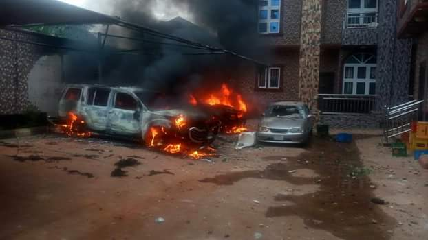 Photos: Properties razed in Anambra community after vigilante commander killed 27-year-old man six days to his wedding