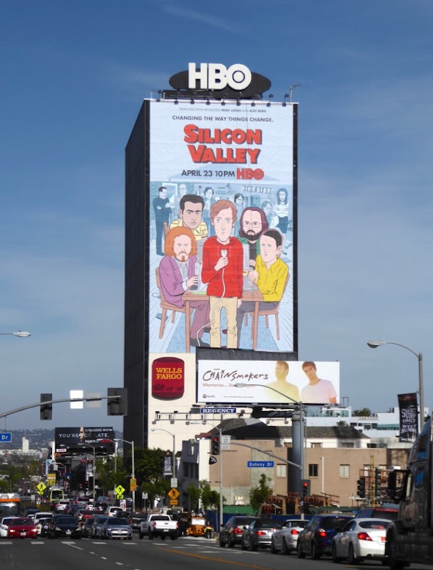 Giant Silicon Valley season 4 billboard