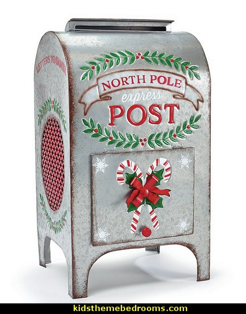 Standing Mailbox North Pole  Rustic Christmas  decorating ideas - rustic Christmas decorations  - Vintage  -  Rustic  - Country style Christmas decorating -  rustic Christmas decor - Christmas stockings - vintage rustic christmas decorations  Rustic Glam Vintage Christmas decor -  Rustic Country Vintage christmas tree ideas - Christmas stockings