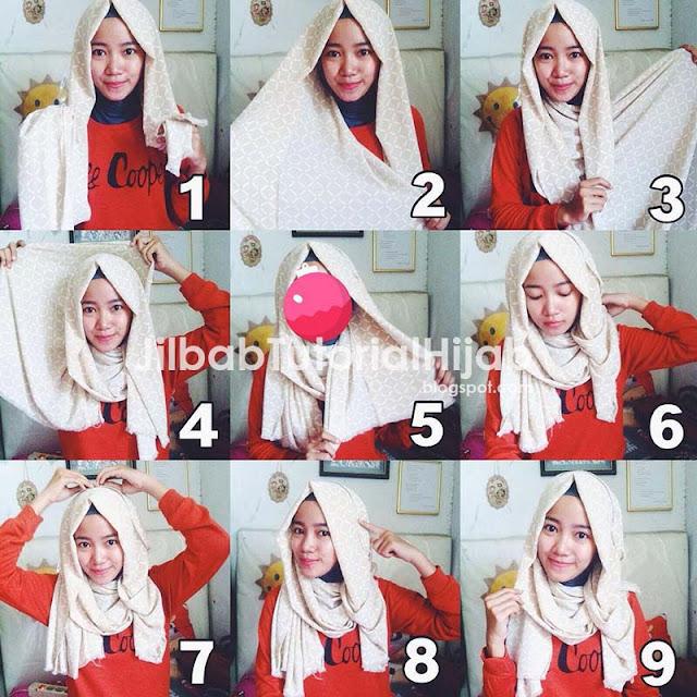 Cara Memakai Jilbab Pashmina Praktis Terbaru