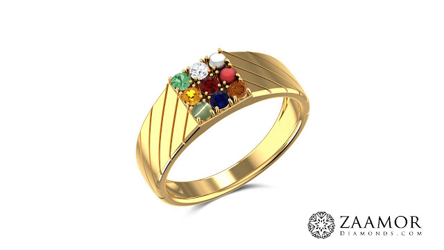Branwen Men's Navaratna Ring