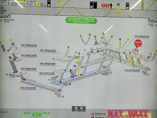 Seoul Korea Subway Station Map