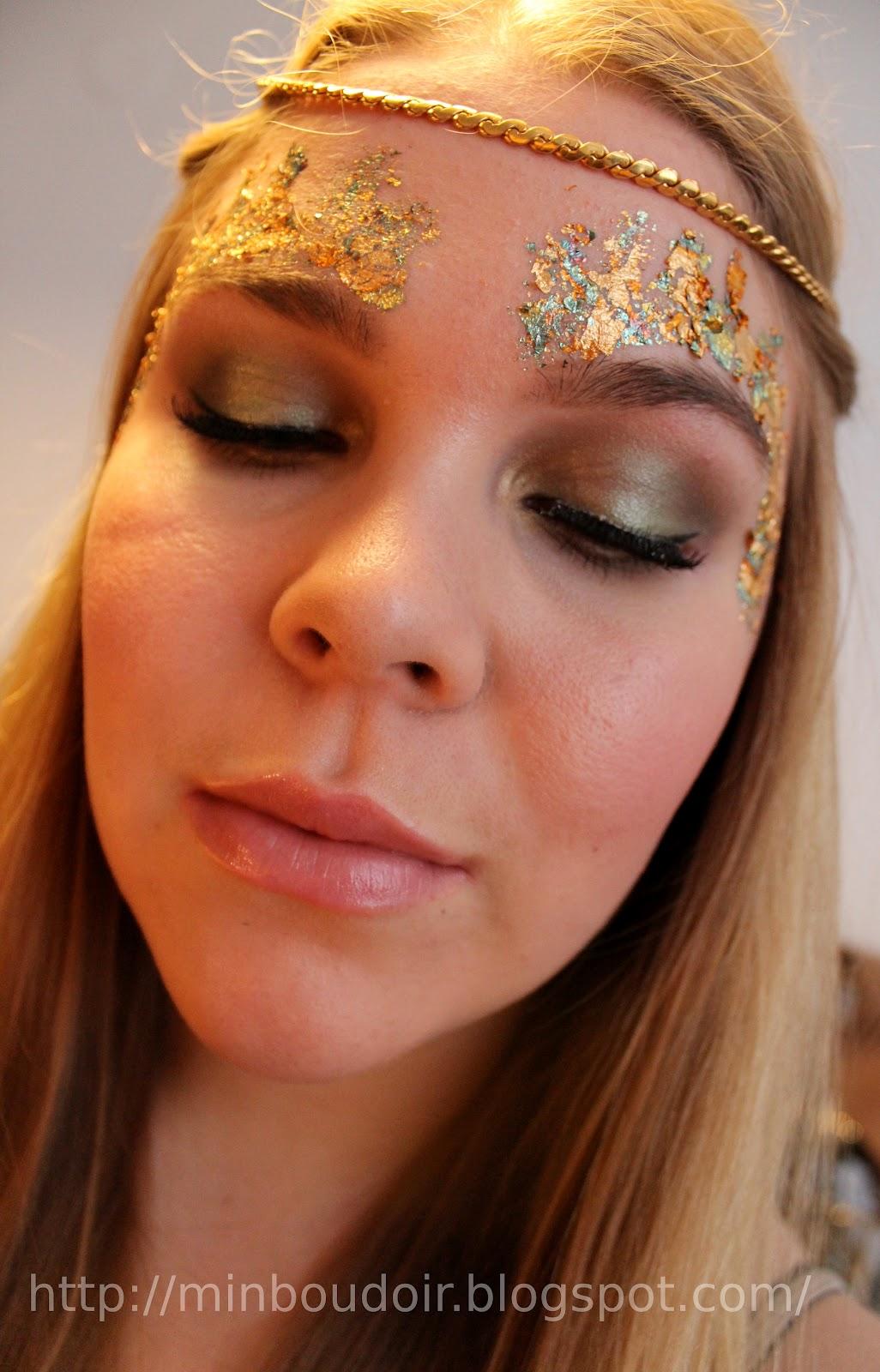 Min Boudoir Green Fairy Forest Nymph Makeup