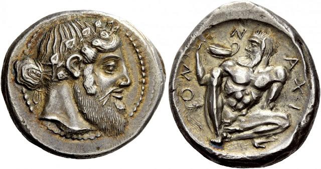 Tetradracma de Naxos subastado por ars classica