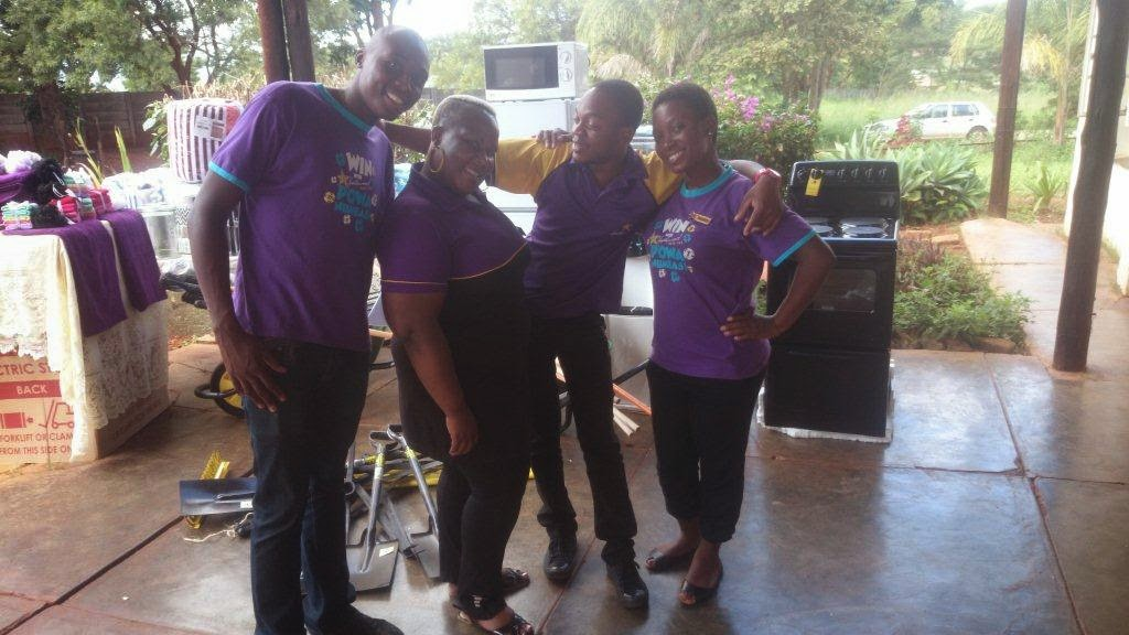 The Hollywoodbets Makhado team giving back to the community