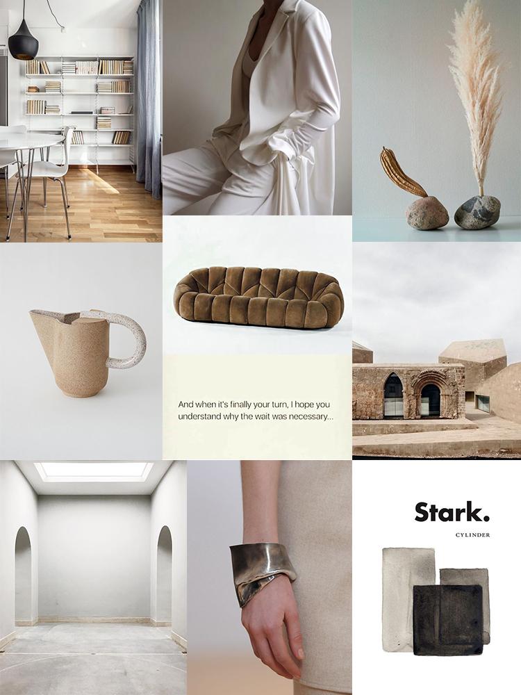 Inspiration moodboard collage by Eleni Psyllaki My Paradissi