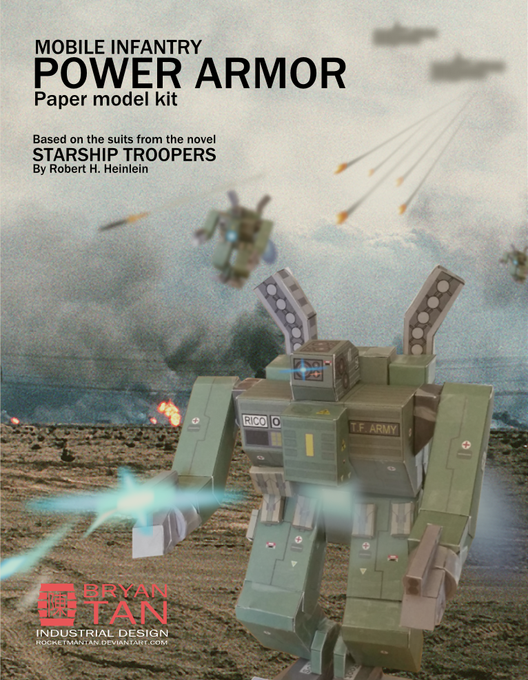 Starship Troopers Power Armor Papercraft | Papercraft ...