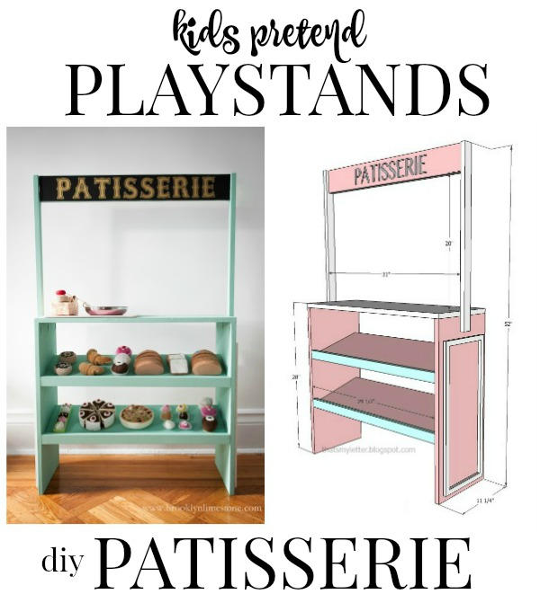 kids pretend playstand patisserie