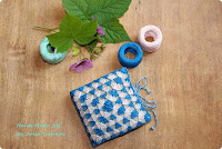 costurero viaje, cartera costura, fieltro, crochet, labores