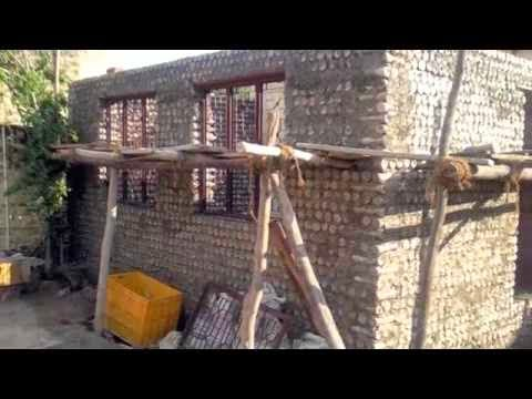 Plastic Bottle House Construction