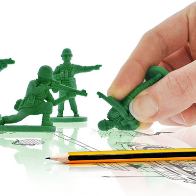 Green Men Erasers