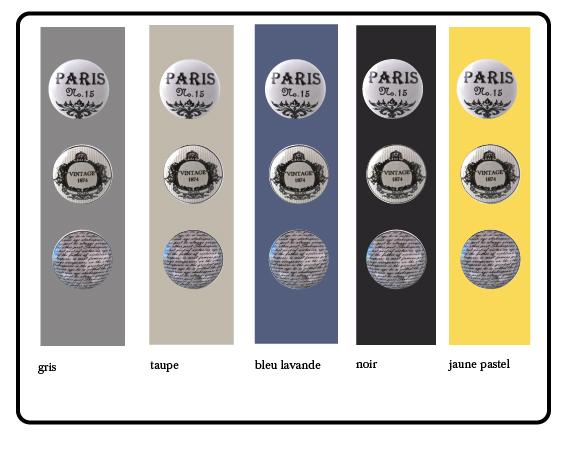 boutons de placard écriture, bouton de tiroir Paris, bouton de meuble vintage