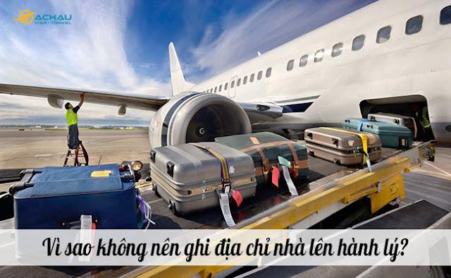 Vì sao không nên ghi địa chỉ nhà lên hành lý khi đi máy bay?