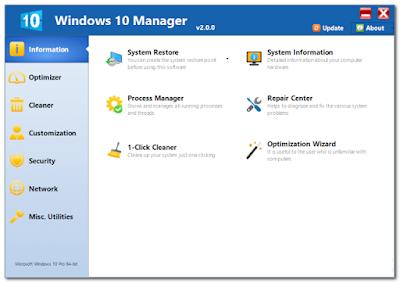 Download Windows 10 Manager 2.0.4 Keygen