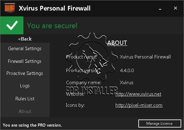 Xvirus Personal Firewall Pro v.4.4 free download full ...