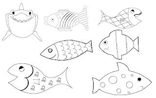 poissons d'avril à imprimer gratuit colorier coloriage rigolos motifs