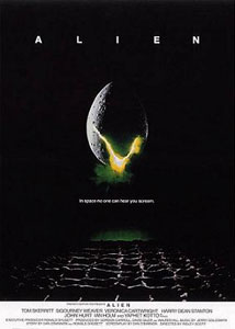 Cartel original de Alien, el octavo pasajero