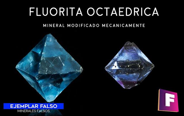 fluorita octaedrica minerales falsos | foro de minerales