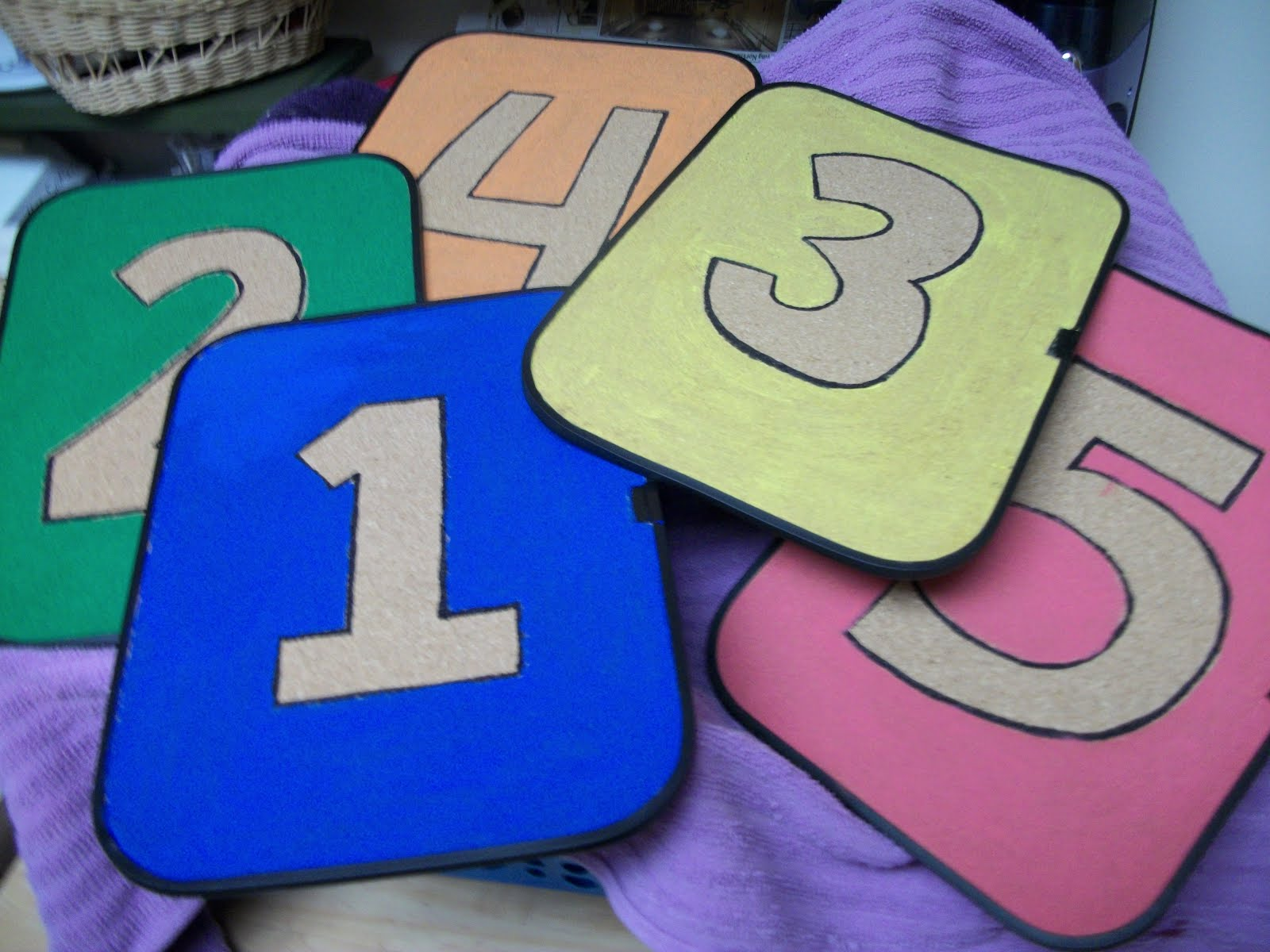 stenciled numbers for room decor